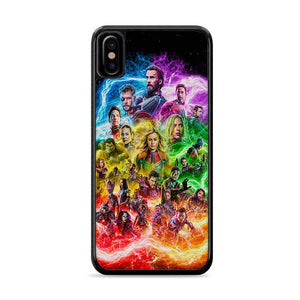 Avengers Endgame Multicolor iPhone XS Max HÜLLE