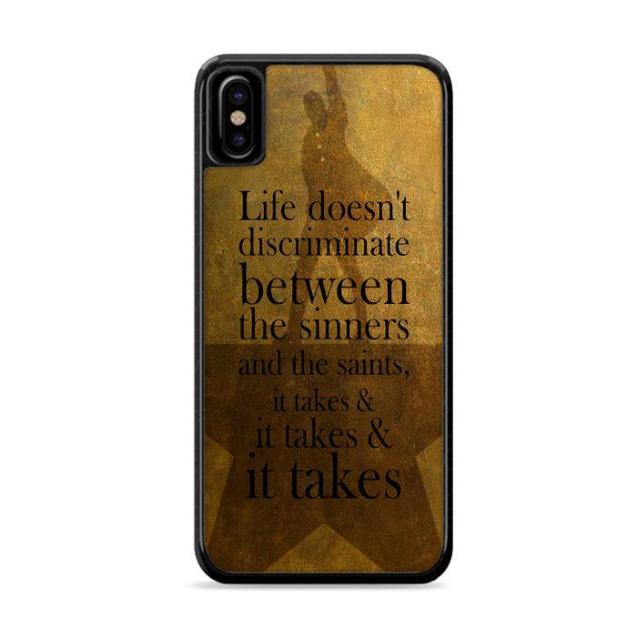 Alexander Hamilton It Takes Quotes iPhone XS HÜLLE