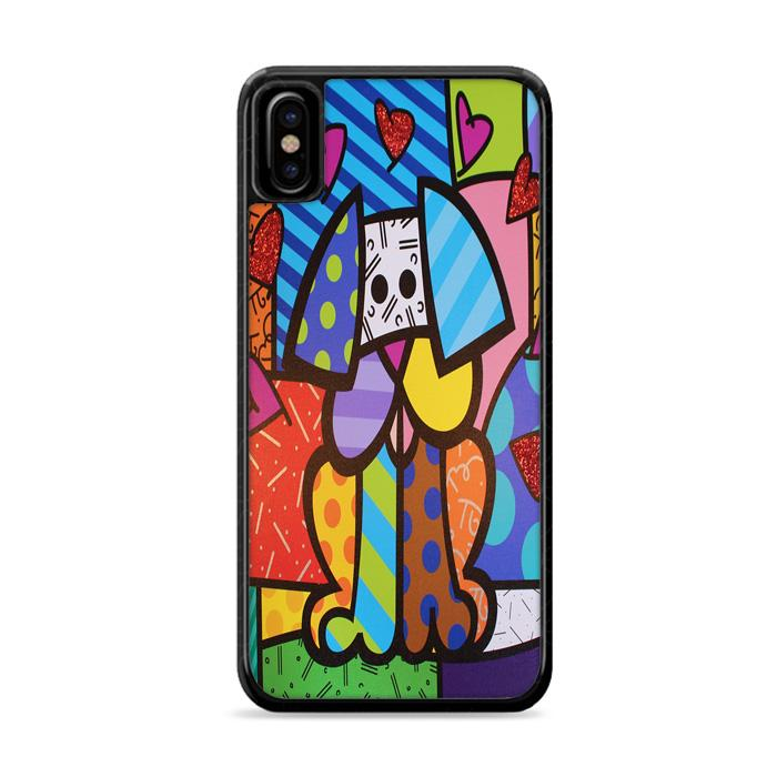 Art Britto Pet Dog iPhone X HÜLLE Cases