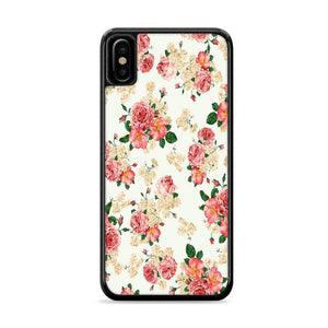 Beautiful Vintage Flower Wallpaper iPhone X HÜLLE Cases