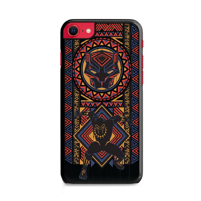 Black Panther Wakanda Pattern iPhone SE 2020 (2nd Gen) HÜLLE