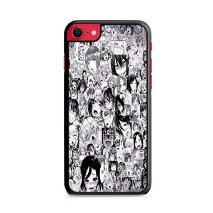 Ahegao Pervert Girls Manga Collage iPhone SE 2020 (2nd Gen) HÜLLE