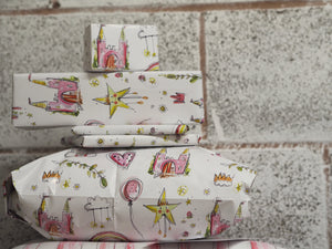 Made by Leah pattern wrapping paper