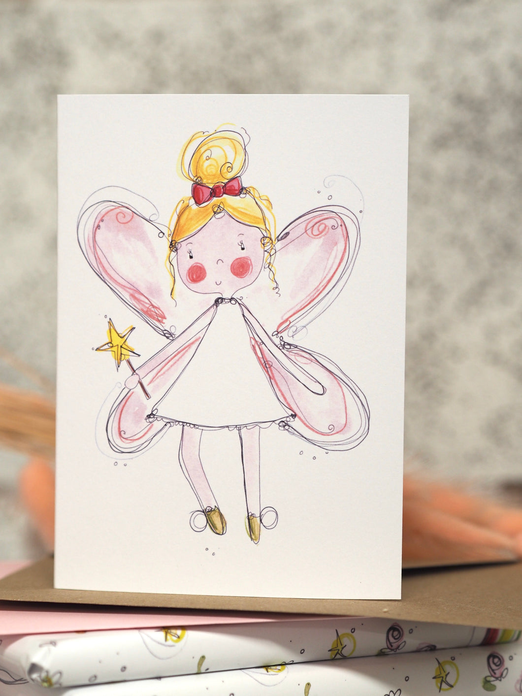 Pink fairy card