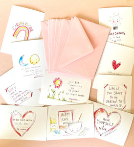 POSITIVE colour postcards- pack of 10