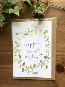Happily ever after greenery card