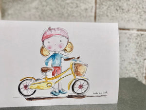 GIRL cycling card