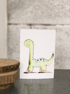 green dinosaur card