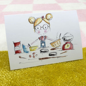 GIRL baking card