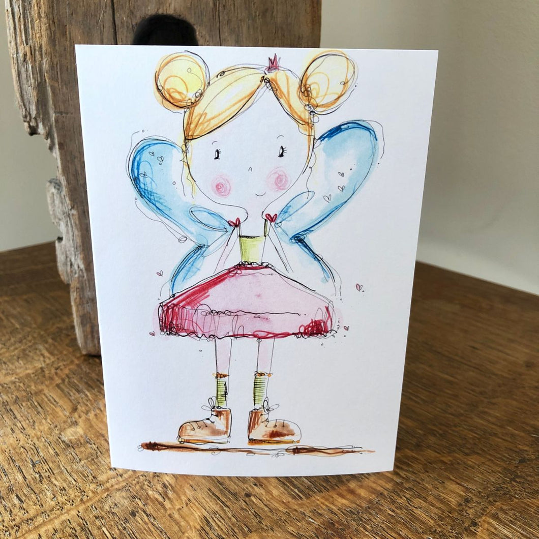 GIRLS wings and boots card