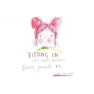Fitting in girl art print