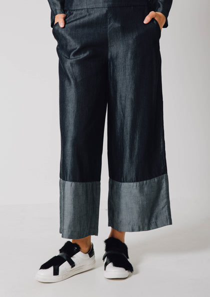 Color Block Tinsel Trouser - Fresqa