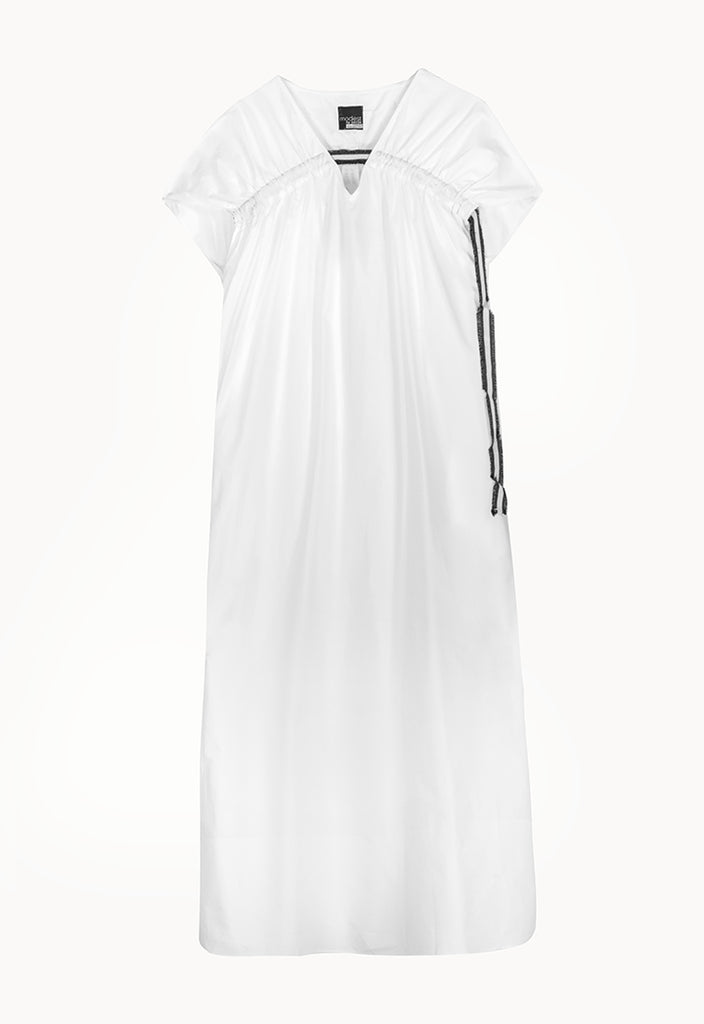 Solid Poplin Dress - Fresqa