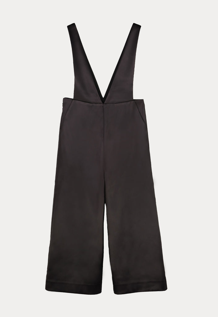 Black Cropped Jumpsuit - Fresqa