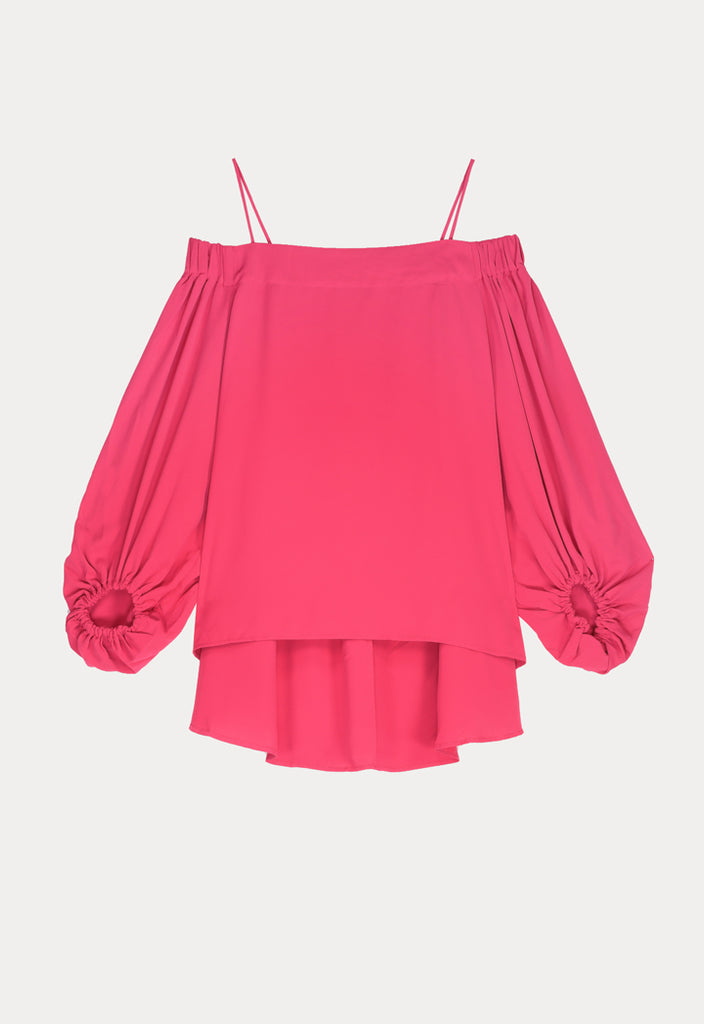 Off Shoulder Asymmetrical Blouse - Fresqa