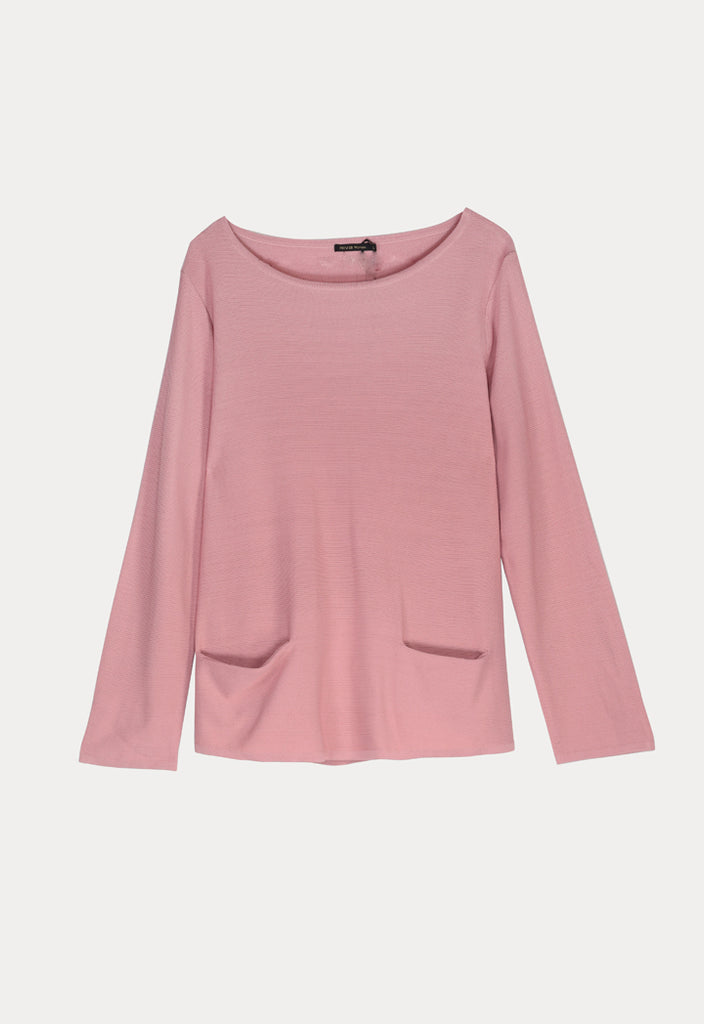 Long Sleeve Blouse with Pocket - Fresqa