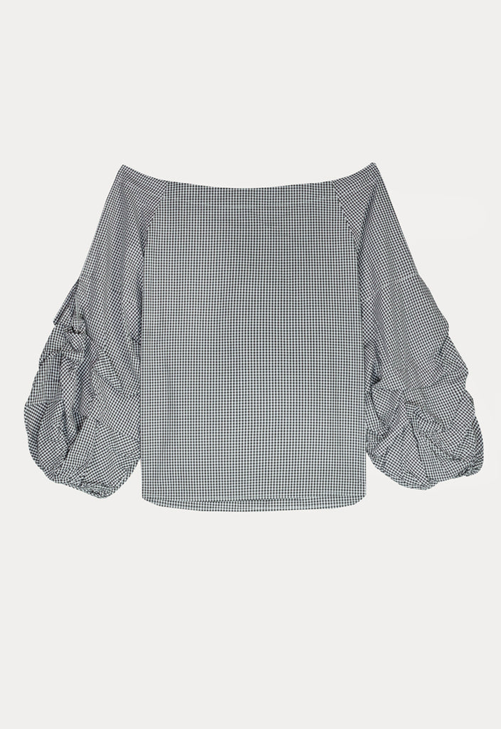 Checkered Frill Top - Fresqa