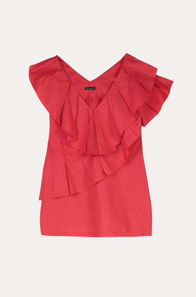 Layered Frill Blouse - Fresqa