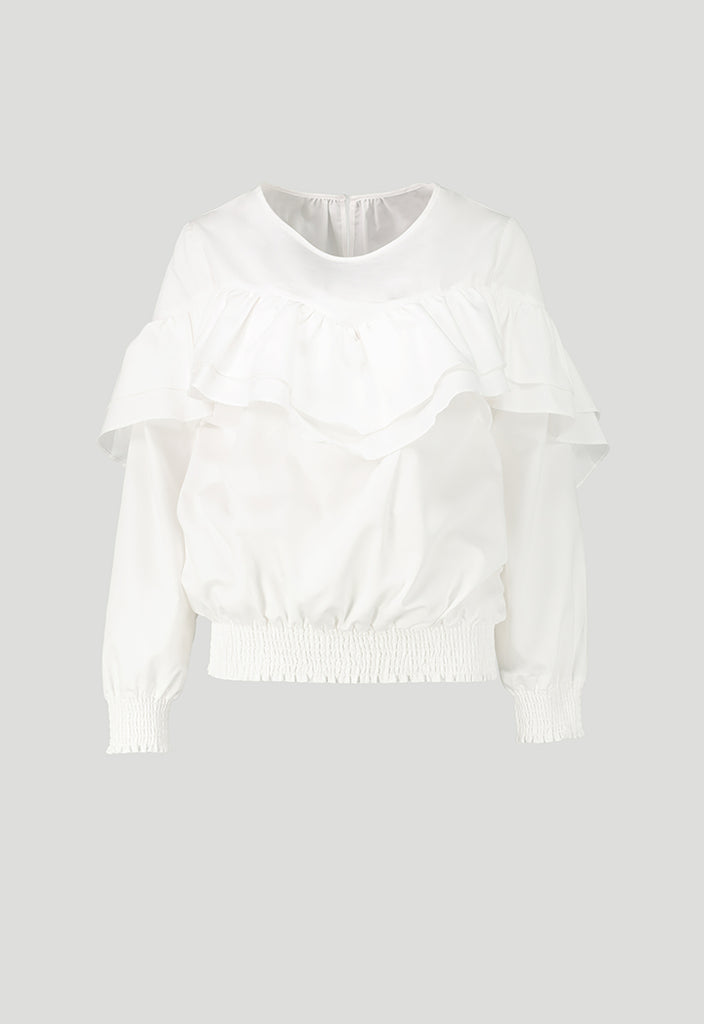 Stripe Gathered Blouse - Fresqa