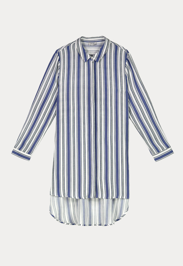 Stripe Collar Shirt - Fresqa