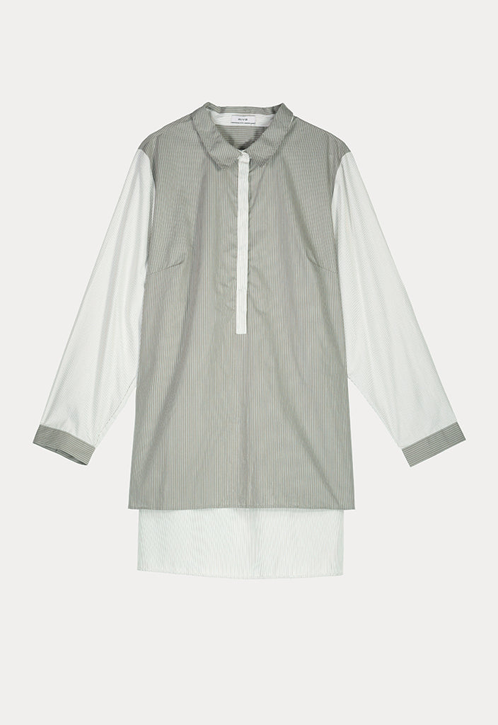 Contrast Placket Shirt - Fresqa