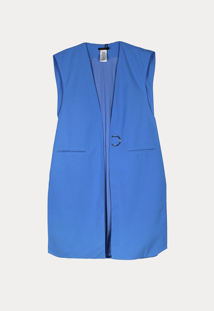 Solid Open Placket Gilet - Fresqa