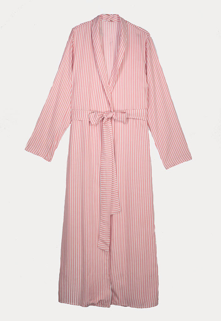 Striped Maxi Outer Jacket - Fresqa