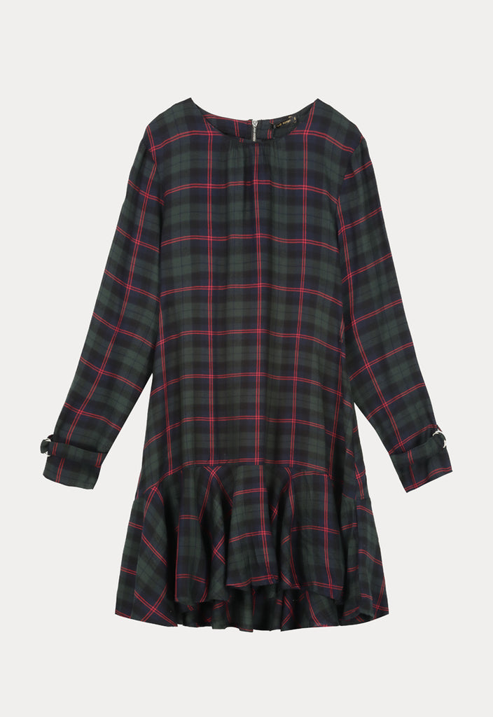 Checked Midi Dress - Fresqa