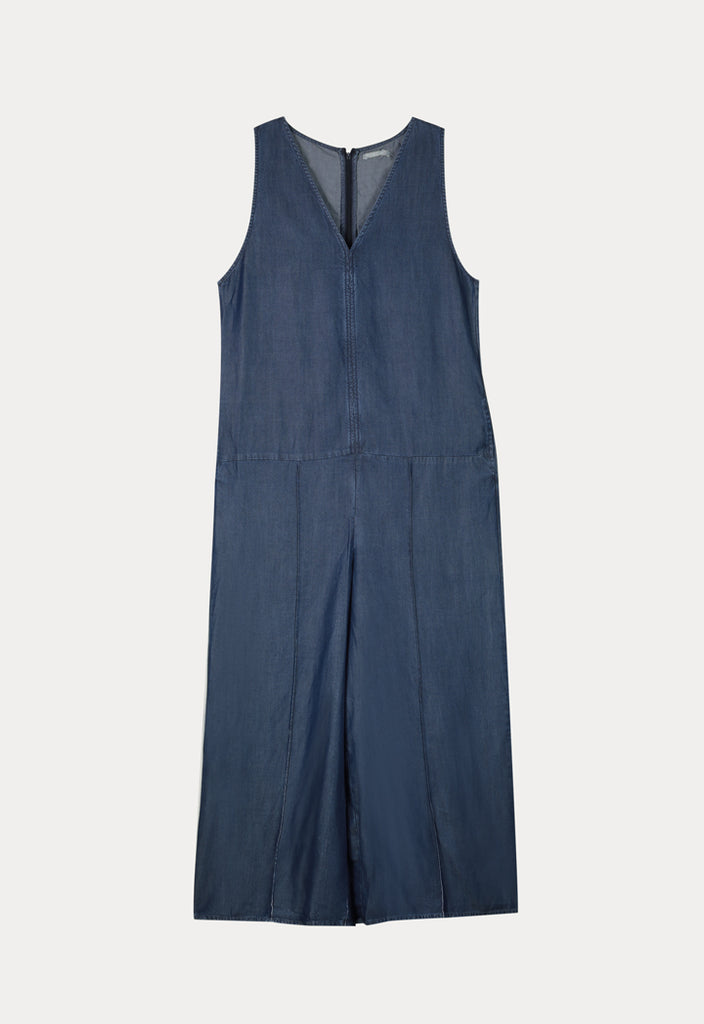 Wide Leg Tencel Jumpsuit - Fresqa