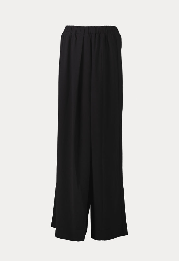 Black Cross-Flap Trousers - Fresqa