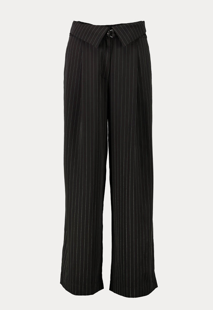 High Waist Stipes Culottes - Fresqa