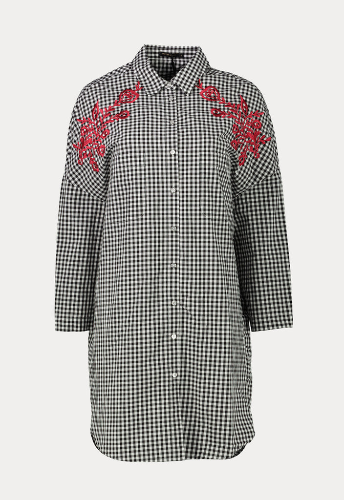 Check Embroidered Shirt - Fresqa