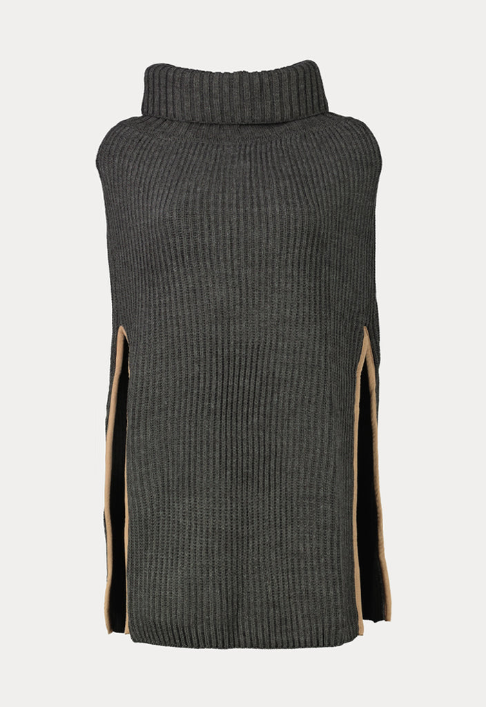 High Neck Ripped Knitted - Fresqa