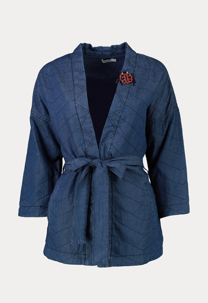 Patch Denim Outerwear - Fresqa