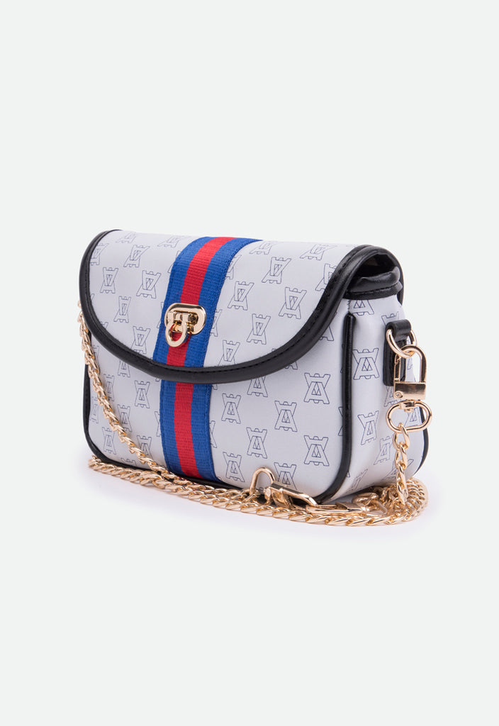 Contrast Tape Printed Bag - Fresqa