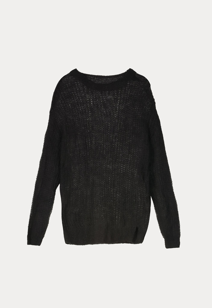 Pull Over Long Sleeves Knit - Fresqa