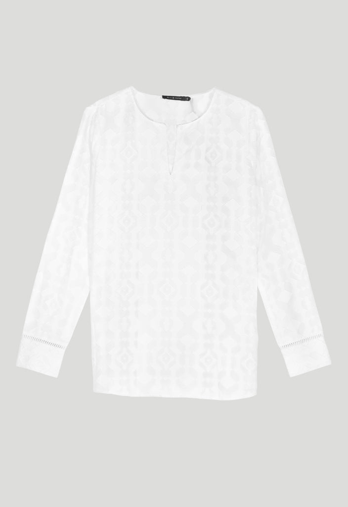 Lace Long Sleeves Blouse - Fresqa