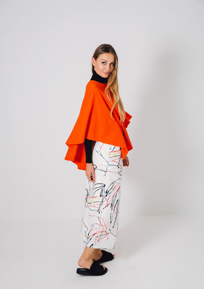Asymmetrical Cape Jacket - Fresqa