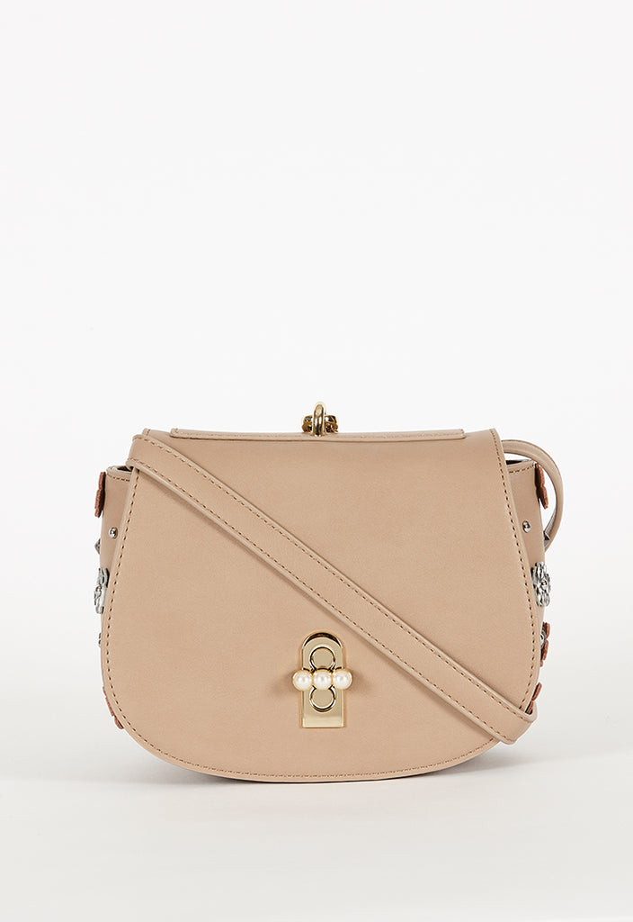 Pearl Turn Lock Shoulder Bag - Fresqa