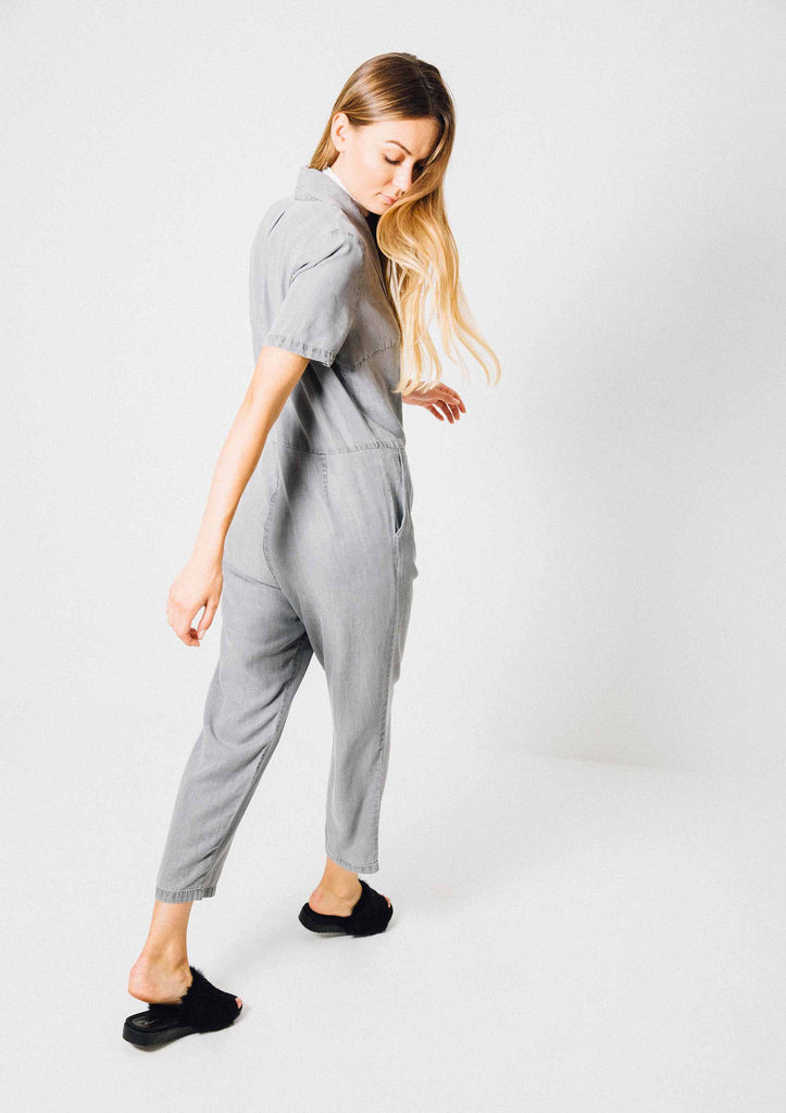 Drizzled Grey Jumpsuit - Fresqa