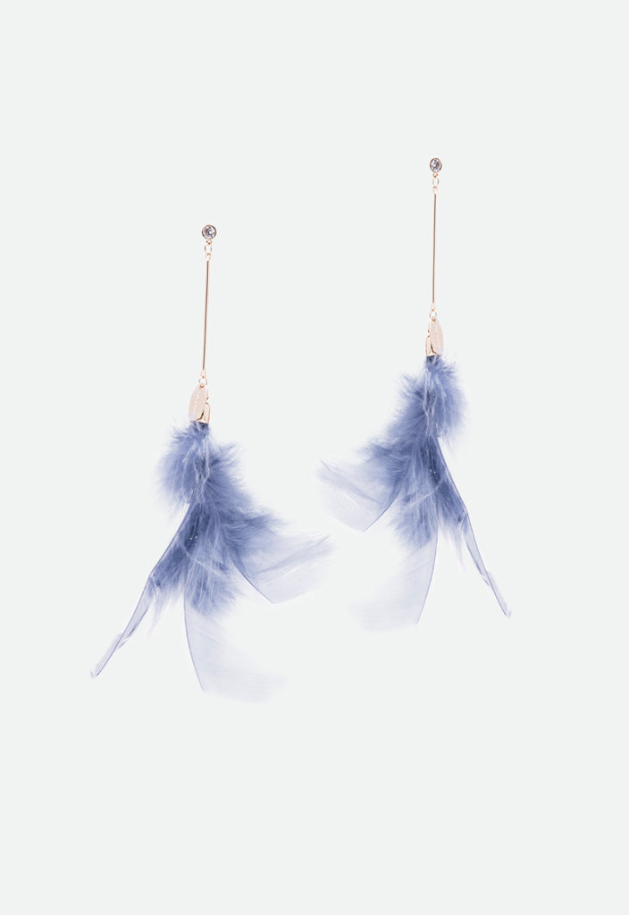 Feather Drop Earrings - Fresqa