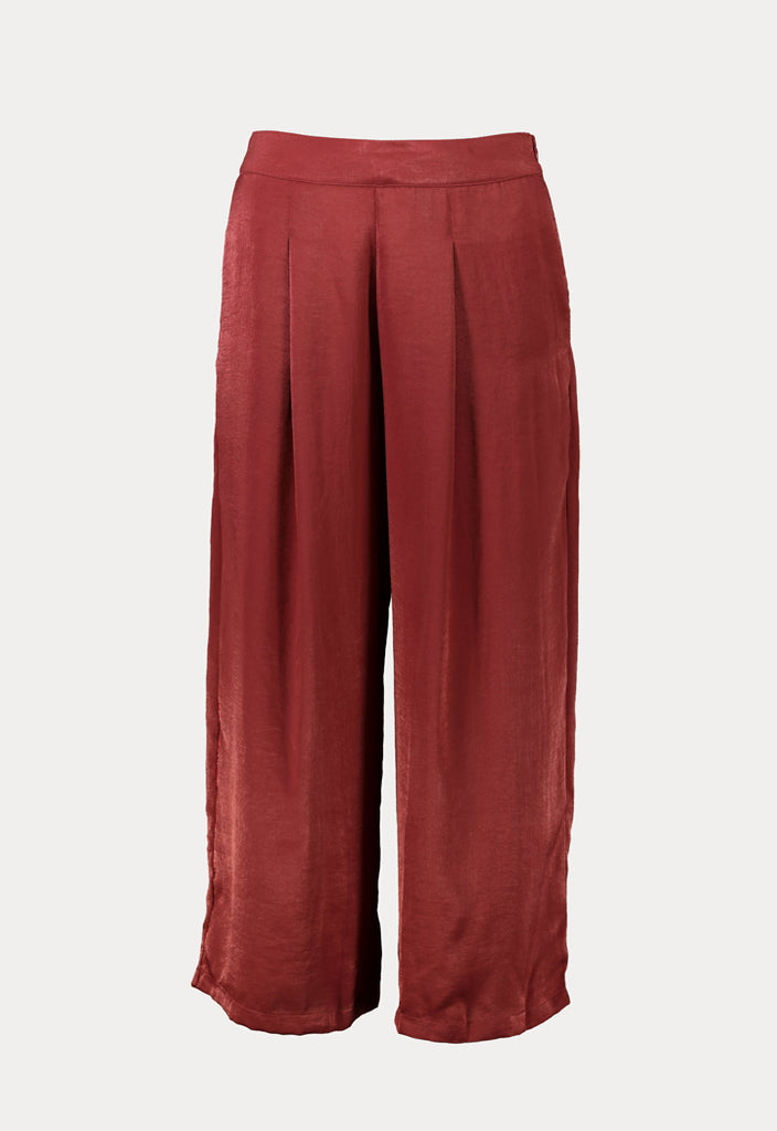 Satin Pleated Culottes - Fresqa