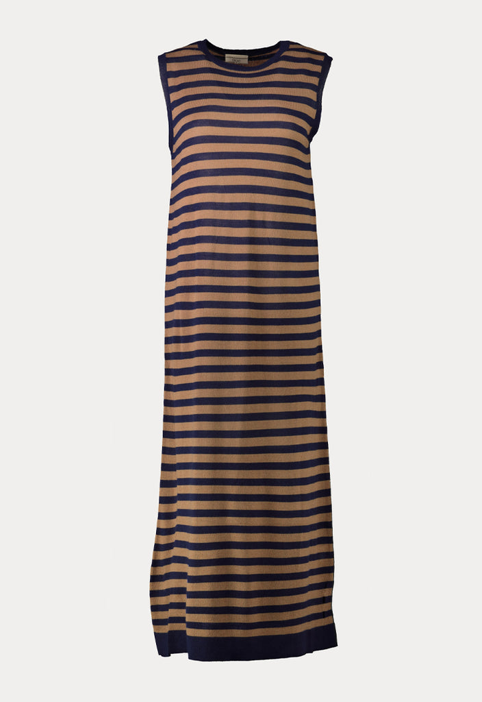 Maxi Sleeveless Stripe Dress - Fresqa