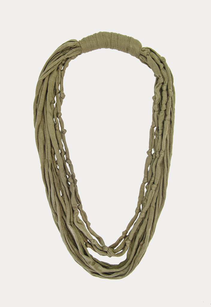 Fabric Knotted Necklace - Fresqa