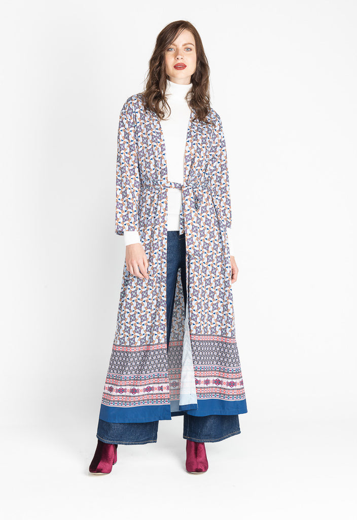 Multi Color Maxi Jacket - Fresqa