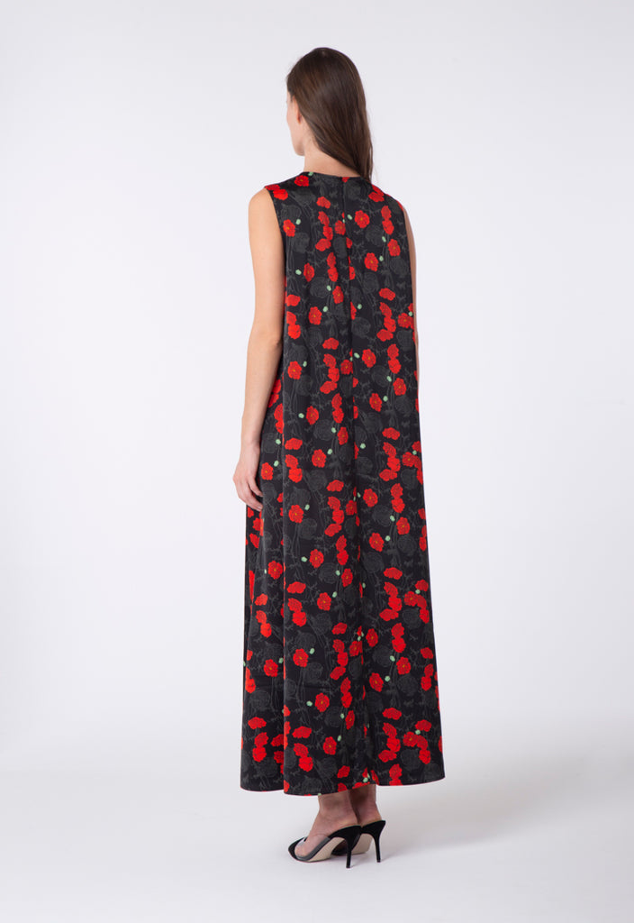 Sleeveless Maxi Floral Dress - Fresqa