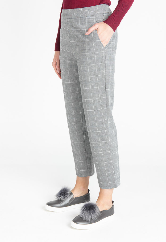 Grey Check Trousers - Fresqa