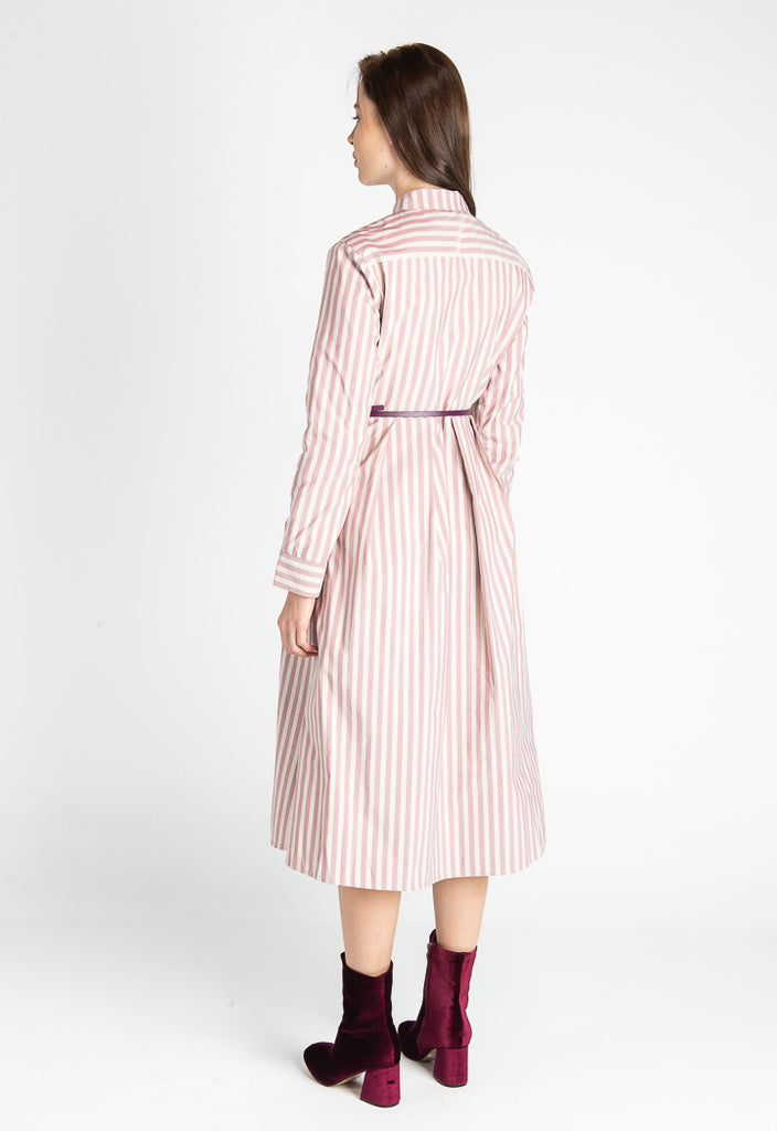 Striped A-line Dress - Fresqa