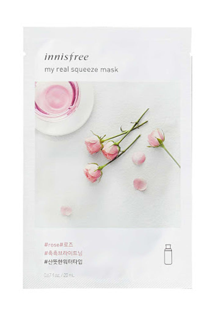 Innisfree, My Real Squeeze Mask Ex, Rose - Fresqa