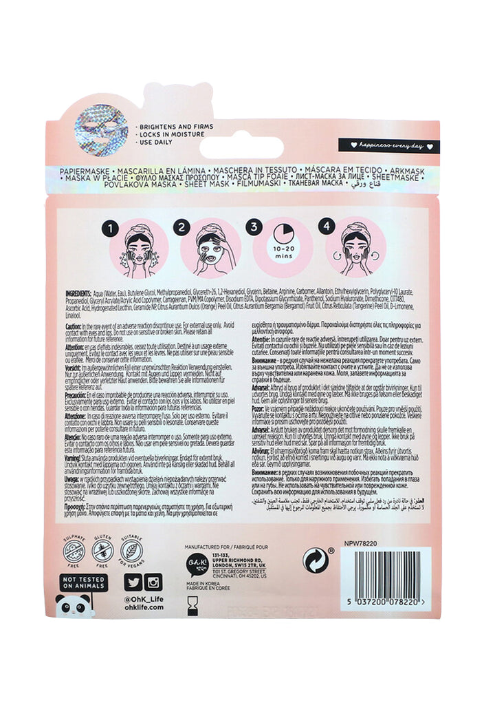 Oh K!, Chok Chok, Illuminating, Holographic Sheet Mask - Fresqa